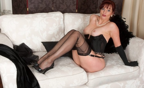vintage flash holly dressed all in black